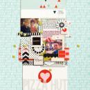 Digital Scrapbook page created by crystalbella77 featuring Melon Sorbet by Sahlin Studio