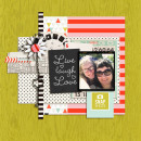 Digital Scrapbook page created by my2monkeys featuring Melon Sorbet by Sahlin Studio