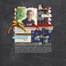 """Digital Scrapbook page created by crystalbella77 featuring """"Acrylic: Arrows"""" by Sahlin Studio"""
