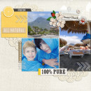"""Digital Scrapbook page created by dul featuring """"Acrylic: Arrows"""" by Sahlin Studio"""