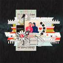 "Digital Scrapbook page created by scrappydonna featuring ""Acrylic: Arrows"" by Sahlin Studio"