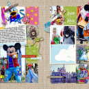 """Digital Scrapbook page created by amberr featuring """"Project Mouse (Fantasy)"""" by Sahlin Studio"""