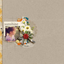 Summer scrapbook page created by aballen featuring Sahlin Studio goodies