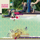 """Digital Scrapbook page created by amberr featuring """"Aztec Summer"""" by Sahlin Studio"""