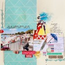 """Digital Scrapbook page created by rossana featuring """"Aztec Summer"""" by Sahlin Studio"""