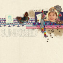 """Digital Scrapbook page created by sucali featuring """"Aztec Summer"""" by Sahlin Studio"""