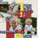 """Digital Scrapbook page created by lor featuring """"Country Fair Picnic"""" by Sahlin Studio"""