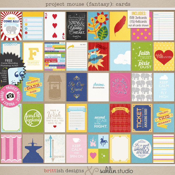 Project Mouse (Fantasy): Journal Cards by Britt-ish Designs and Sahlin Studio