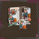 Fall / Autumn digital scrapbook layout created by norton94 featuring Autumn Moon by Sahlin Studio