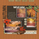 Fall / Autumn digital scrapbook layout created by Lor featuring Autumn Moon by Sahlin Studio