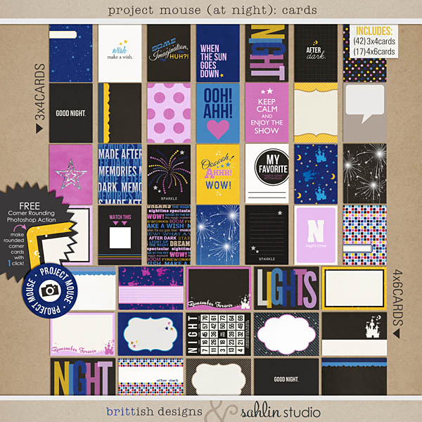 Project Mouse (At Night): Journal Cards by Britt-ish Designs and Sahlin Studio
