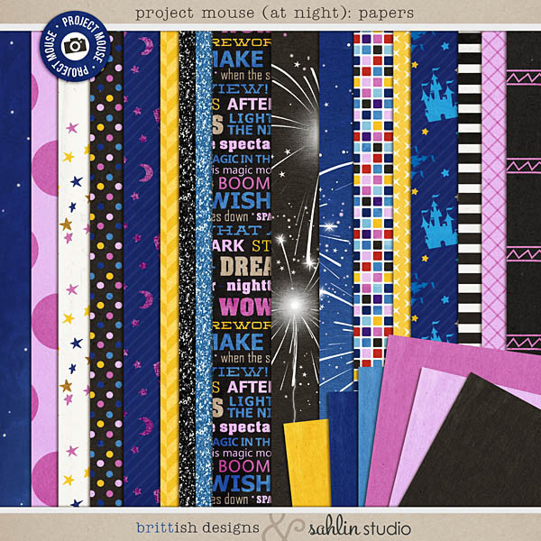 Project Mouse (At Night): Papers by Britt-ish Designs and Sahlin Studio