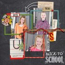 Back To School layout by mamatothree using Journal Cards: School by Sahlin Studio