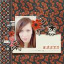 Fall / Autumn digital scrapbook layout created by dul featuring Autumn Moon by Sahlin Studio