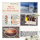 fall break vacation project life layout by FarrahJobling using Reflection kit by Sahlin Studio