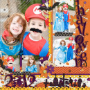 halloween page by wendy using Project Mouse: Halloween Edition by Sahlin Studio & Britt-ish Designs