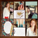 right now project life layout by kristasahlin using Reflection Kit by Sahlin Studio