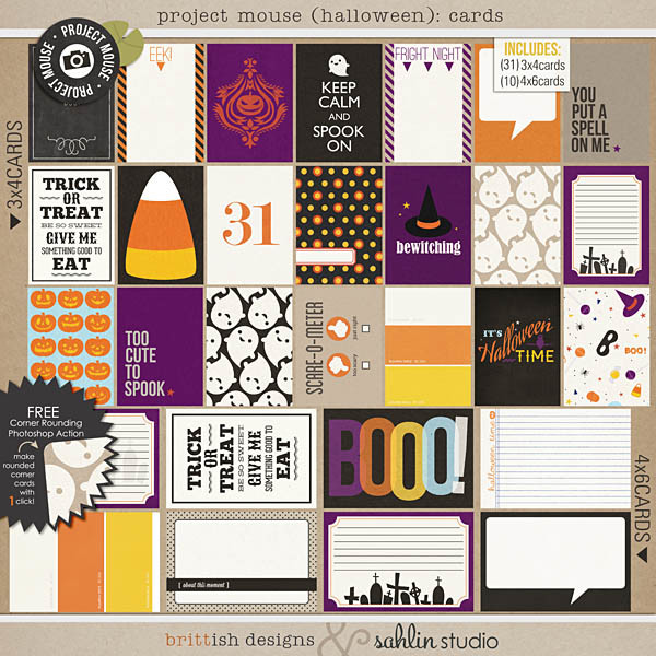 Project Mouse (Halloween): Journal Cards by Britt-ish Designs and Sahlin Studio