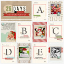 Christmas scrapbook layout by TeresaVictor using Wood Veneer: Christmas, Daily Date Brads, Project Life - Vintage Christmas Alpha Cards by Sahlin Studio