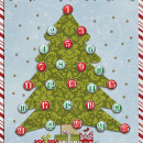 Countdown to Christmas DRY ERASE Board project by kv2av using Daily Date Brads by Sahlin Studio