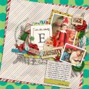 Elf on a Shelf Christmas layout by my2monkeys using Wood Veneer: Christmas, Daily Date Brads, Vintage Christmas Alpha Cards by Sahlin Studio