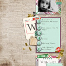 Christmas Family scrapbook layout by norton94 using Wood Veneer: Christmas, Daily Date Brads, Project Life - Vintage Christmas Alpha Cards by Sahlin Studio