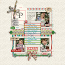 Christmas scrapbook layout by pne123 using Wood Veneer: Christmas, Daily Date Brads, Project Life - Vintage Christmas Alpha Cards by Sahlin Studio