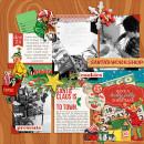 Christmas digital layout by PuSticks using Santa's Workshop by Sahlin Studio