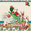 Christmas digital layout by mom2da3ks using Santa's Workshop by Sahlin Studioac