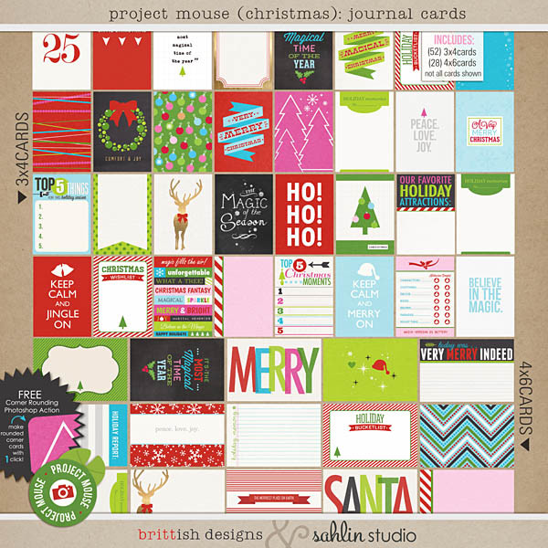 Project Mouse (Christmas): Journal Cards by Britt-ish Designs and Sahlin Studio