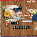 wonderful layout created by mommy2boyz featuring A Wonderful Day by Sahlin Studio
