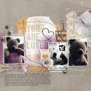 You Are Loved digital layout by HeatherPrins using Stamped Sentiments Digital Word Art No. 2: Love by Sahlin Studio