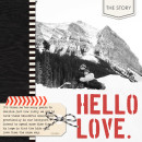 Hello Love digital layout by ctmm4 using Stamped Sentiments Digital Word Art No. 2: Love by Sahlin Studio