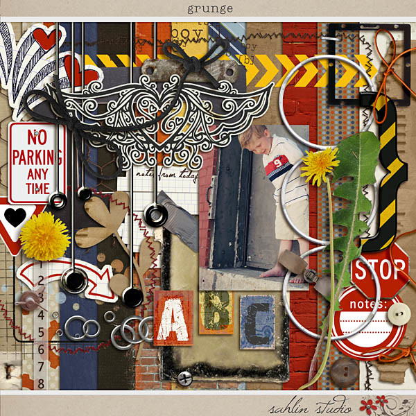 Grunge by Sahlin Studio - Perfect for scrapbooking the special guy in your life