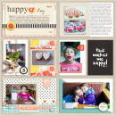 Happy Day Project Life digital layout by aballen using Pure Happiness by Sahlin Studio