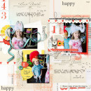 Happy digital scrapbook layout by amberr using Pure Happiness by Sahlin Studio