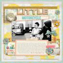 GIRL Digital scrapbook page by zakirahzakaria, using Year of Templates 13 by Sahlin Studio
