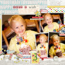 BIRTHDAY digital scrapbook page by britt, using Year of Templates 13 by Sahlin Studio