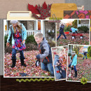 Autumn / Fall digital scrapbook page by kristasahlin, using Year of Templates 13 by Sahlin Studio