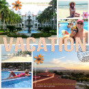 Vacation Tropical Beach Digital scrapbook page by lor, using Year of Templates 13 by Sahlin Studio