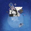 Dream / Sleeping Digital scrapbook page by crystalbella77, using Year of Templates 13 by Sahlin Studio