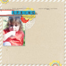 Spring digital scrapbook layout by MlleTerraMoka using Anagram Letter Tile Alpha 2 by Sahlin Studio