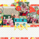 Family digital scrapbook layout by becca1976 using Anagram Letter Tile Alpha 2 by Sahlin Studio