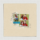 LOVE / Spring digital scrapbook layout by rlma using Anagram Letter Tile Alpha 2 by Sahlin Studio