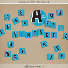 Anagram Letter Tile Alpha No 2 by Sahlin Studio - Add a bit of vintage kitsh to your layouts!