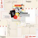 Happy digital scrapbooking layout by Icajovita using Paper Clips-Arrows by Sahlin Studio