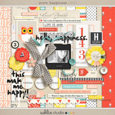 Pure Happiness (Kit) by Sahlin Studio - Perfect for scrapbooking your happy moments!
