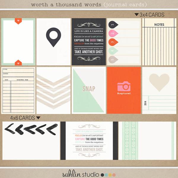 Worth A Thousand Words (Journal Cards) by Sahlin Studio