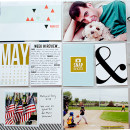 Project Life page created by carolee featuring Melon Sorbet by Sahlin Studio