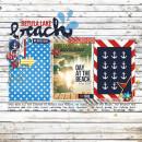 Beach Digital Scrapbook Page by Jenn Barrette using Project Mouse (At Sea): Bundle by Britt-ish Designs & Sahlin Studio